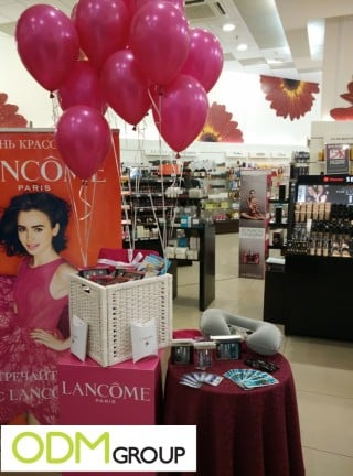 Gifts with purchases form Lancome