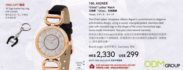 Keyring as Watch Marketing Gift