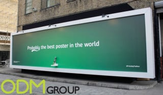 Beer Dispensing Billboard Advertising by Carlsberg London
