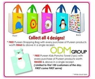 Promotional Poncho Towel and shopping bags