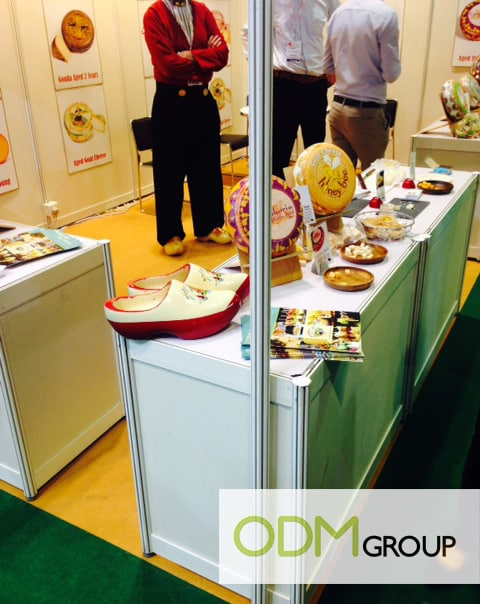 Food Promotion at HOFEX - Wooden shoe
