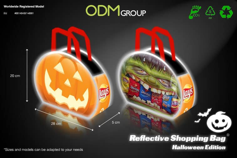 Halloween Promotional Products - Reflective Shopping Bag