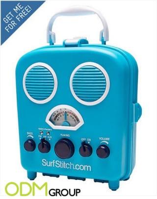 Custom beach radio for market activation - SurfStitch.com