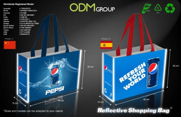 Reflective Shopping Bag - Pepsi Example