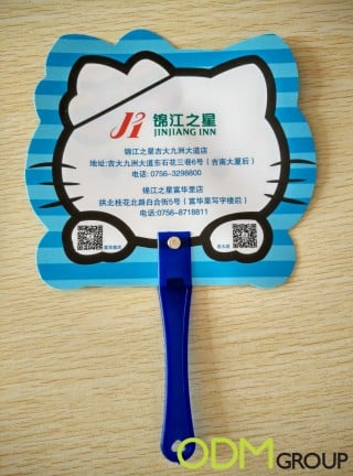 Customized fan as a free summer giveaway