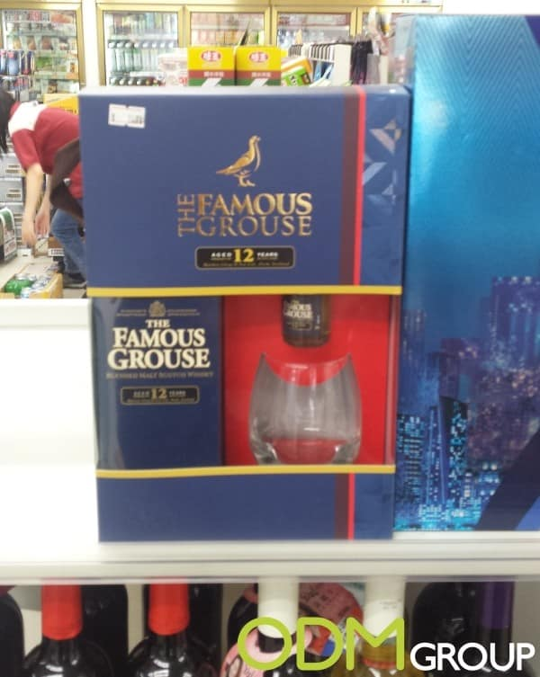 Exclusive whisky glass as on-pack promotion