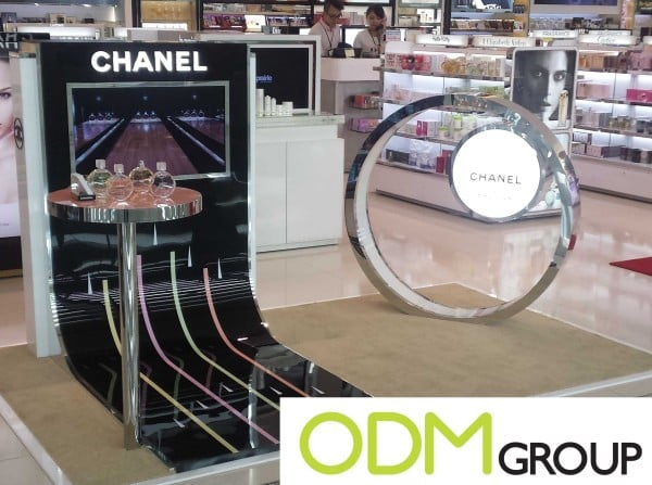 Marketing display in duty free store