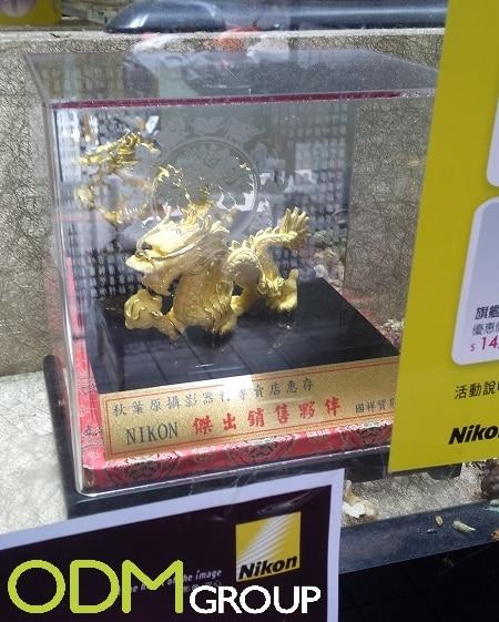 Eye-catching marketing window display from Nikon