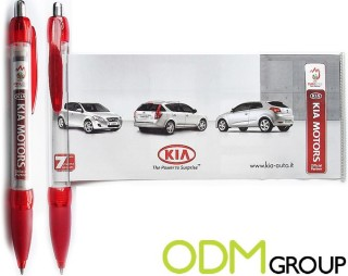 Branded banner pens as promotional product