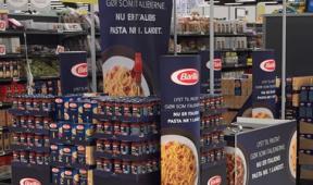 Branded In Store Display in Danish Supermarket