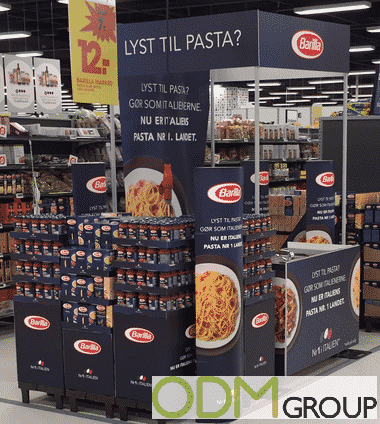 Branded In Store Display in Danish Supermarket