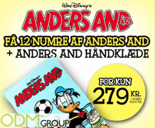 Promotional Gifts: Branded Towels with Donald Duck