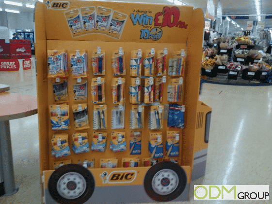 Back To School In-Store Display by BIC