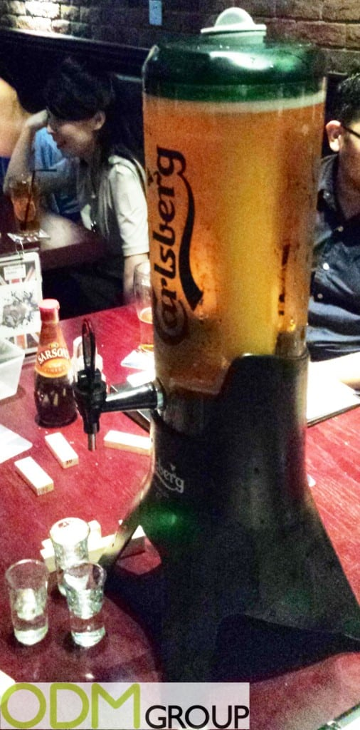 Promote your beer with customized beer towers as in bar display
