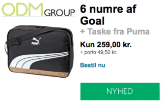 Free Sports Bag as On-Pack Promotion with Magazine