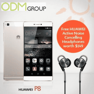 Free gift with purchase by Huawei