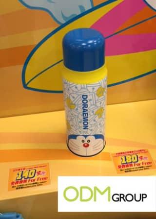 Custom Water Bottle with Doraemon character