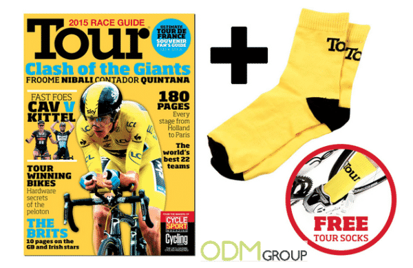 Free Tour de France Socks as On-Pack Promotion
