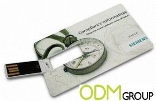 Promoting with a branded flash drive business card