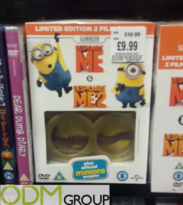 Free on-pack gift for brand activation by Despicable Me