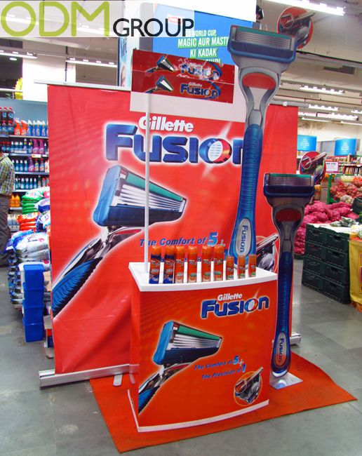 Gillette Grabs Attention: In Store Display