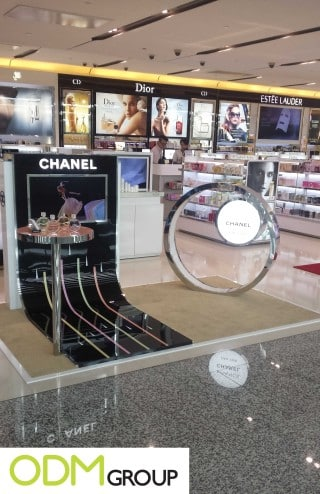 Great marketing display for cosmetics promotions by Chanel