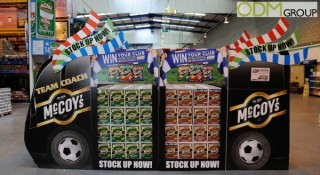McCoy's runs Massive Marketing Campaign with In-Store Display