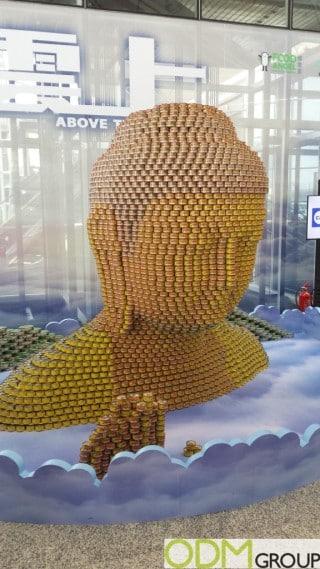 B&F Tuna's Buddha Advertising Display