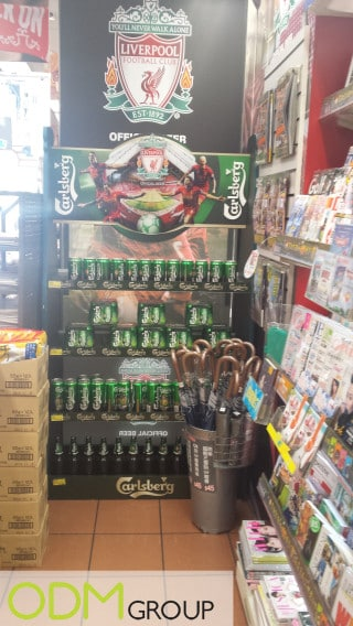 Liverpool FC and Carlsberg - In Store Marketing in China