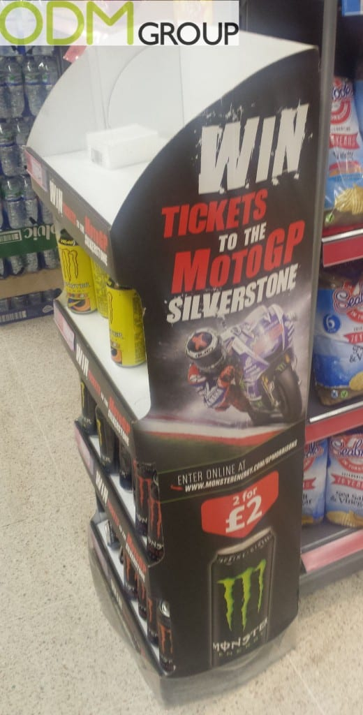 Monster's in store marketing with MotoGP