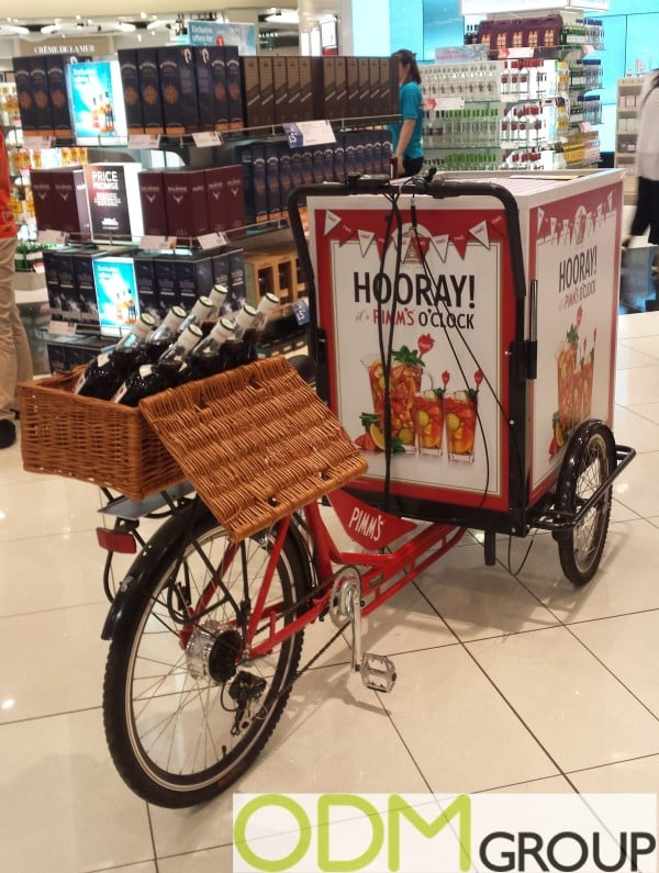 Great promotional ideas from Pimm's: branded deck chair