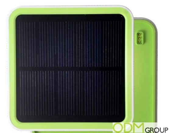 Promotional Gadget: Power Bank with stackable Solar Panel