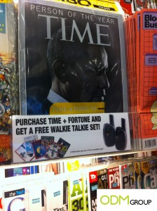 Walkie Talkie Gift with Purchase by Time and Fortune Magazine