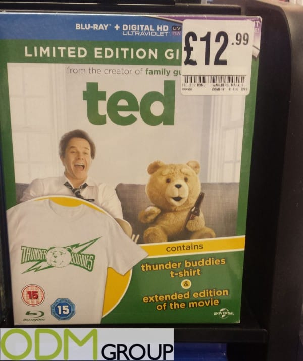 On Pack Gift from Ted to raise DVD Sales