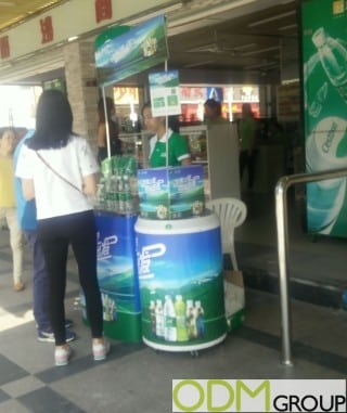 On Premise Display by C'est Bon Attracts Consumers