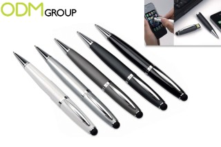 Promotional USB Pen with Stylus as a customized item