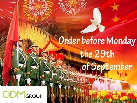 How does Chinese National Day holiday affect my production and shipment?