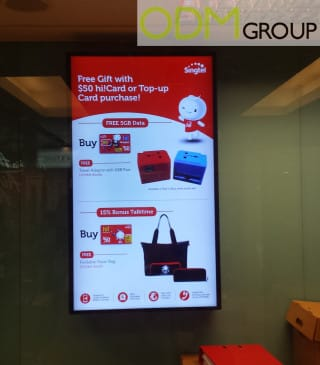 Free Gift With Purchase: Singtel Mobile