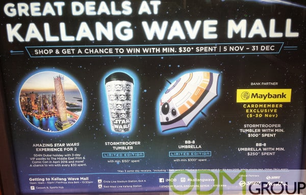 Star Wars Promotional Giveaways in Kallang Wave Mall