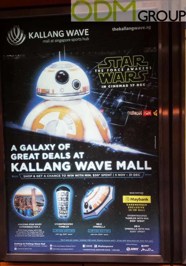 Kallang Wave Mall's Star Wars Promotional Giveaway