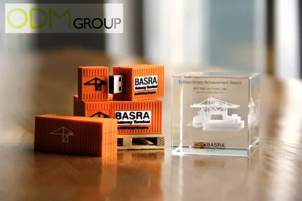 Corporate gift - Ideation to production - Engraved Glass Cube