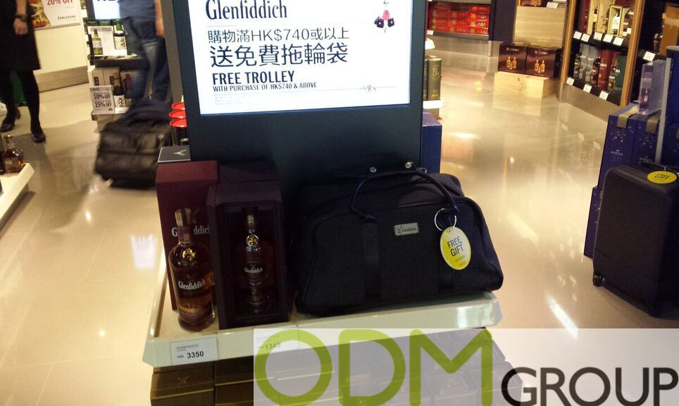 Promotional Display - Marketing by Glenfiddich and The Glenlivet