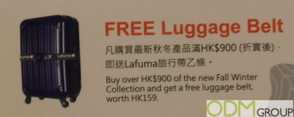 Travel Promotional Products: Lafuma Free Luggage Belt