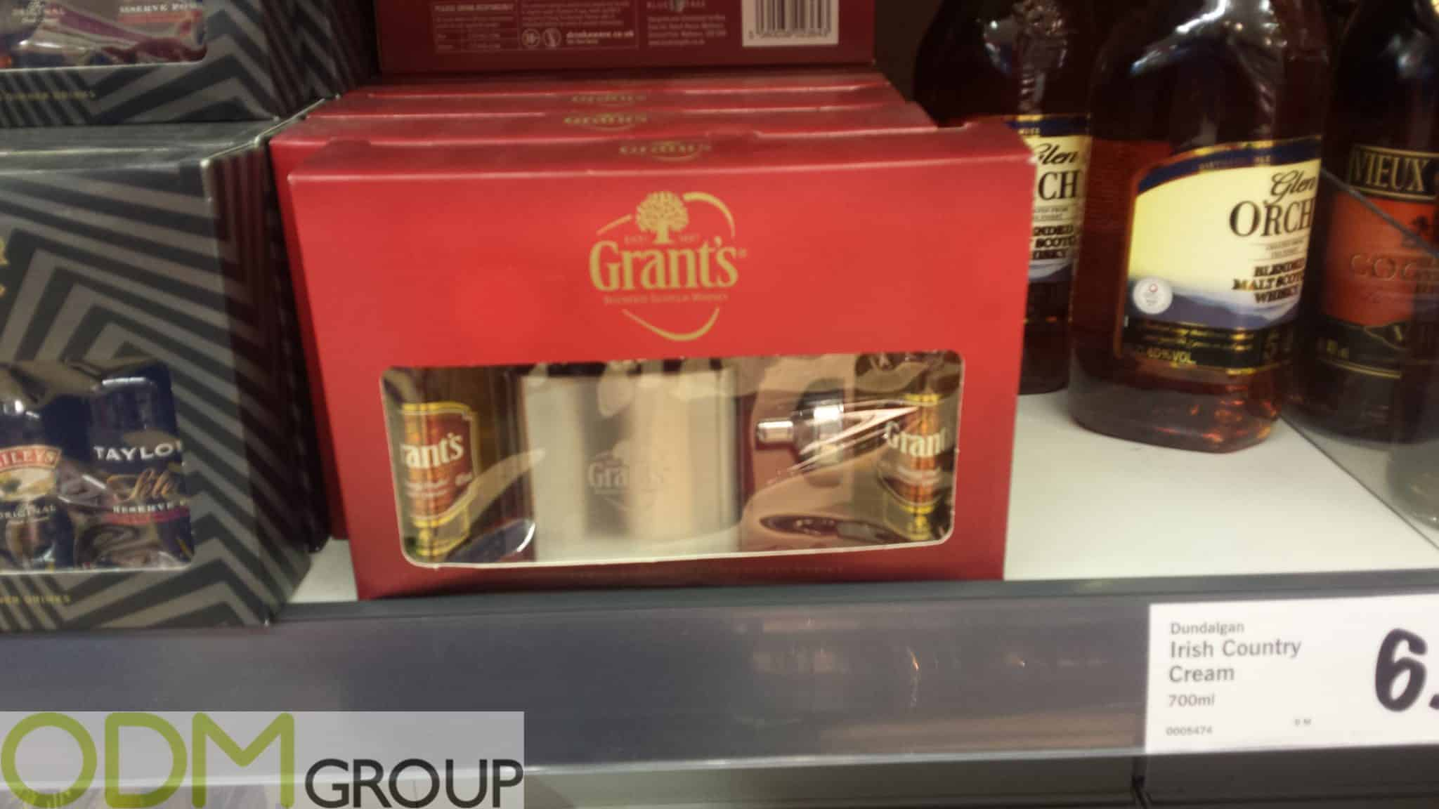 Branded Flask On Pack Promotion by Grants