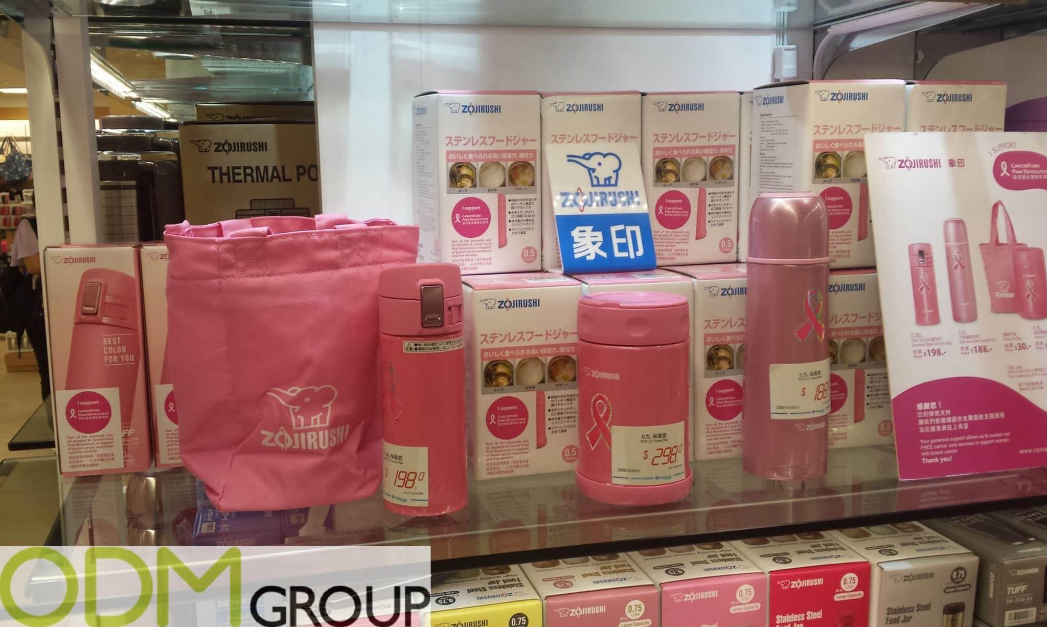 Branded Thermal Set for Promoting Cancer Awareness
