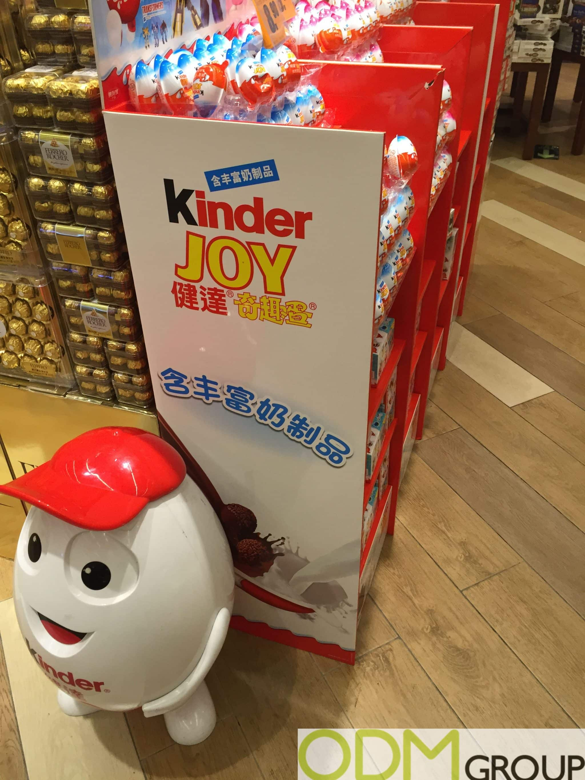 Easter Marketing - Kinder Chocolate In Store Statue Display