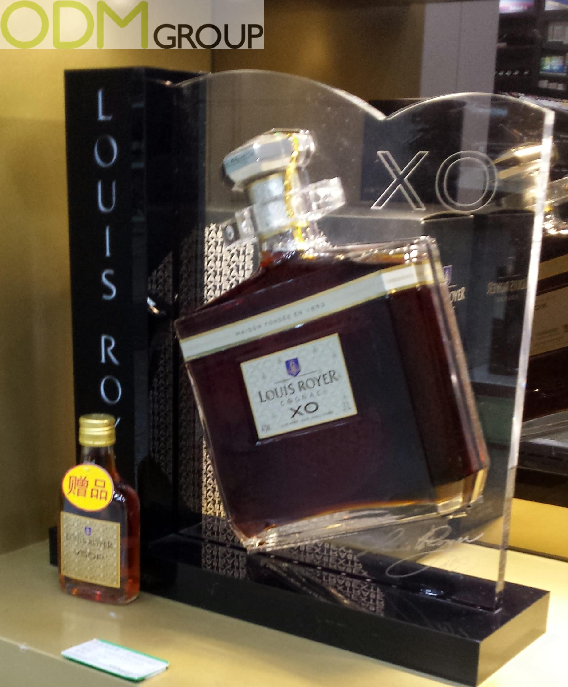 In Store Display Cognac Bottle by Louis Royer