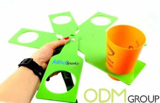 Promo Idea for Drinks Companies - Foldable Cup Holder