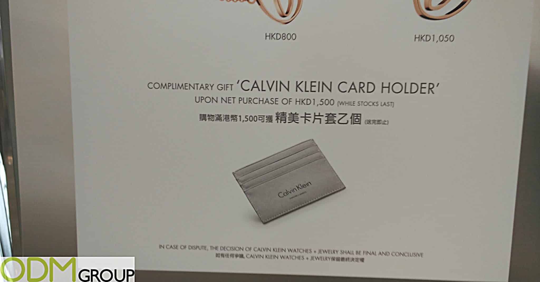 Branded Card Holder as Gift by Calvin Klein