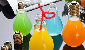 Creative Promo Idea for Beverages - Light Bulb Drinking Glass